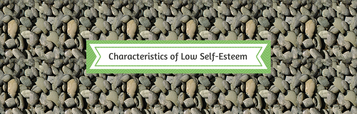 Characteristics of low self-esteem (infographic)